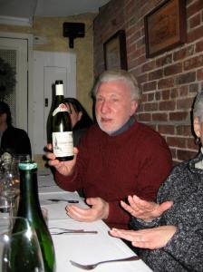 Charles with a bottle of Chablis