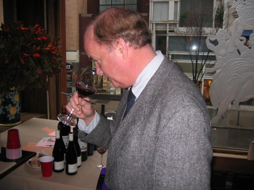 Frank Johnson at the Wine Media Guild tasting