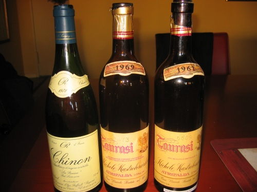 1978 Chinon and the 1969 and 1961 Taurasi