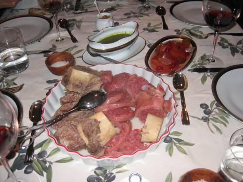 Bollito Misto, Mostarda and Green Sauce