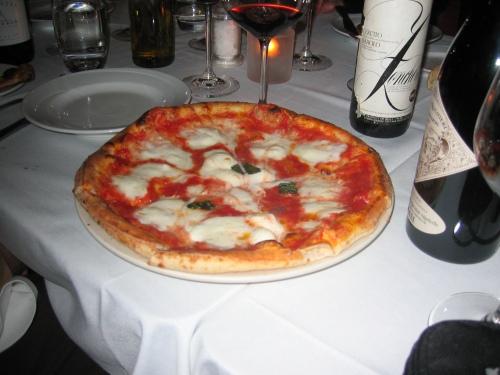 Pizza Margarita at La Pizza Fresca