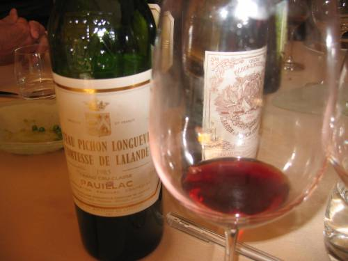 The Wine of the Tasting -1985 Pichon-Lalande