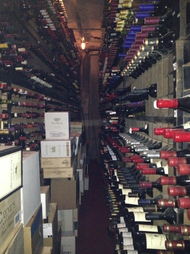 One of the many wine rooms in Bern's