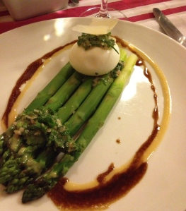 Egg on a Bed of Asparagus