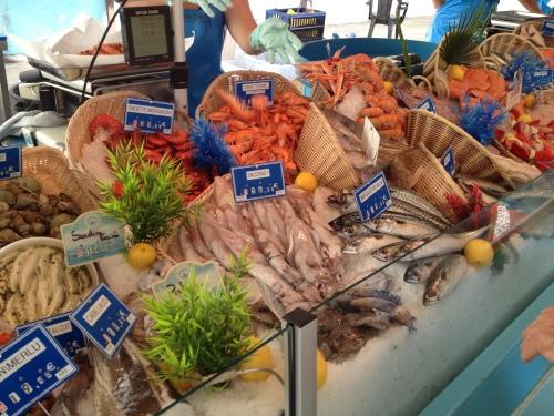 Buying Shrimp at the Market in Isle Sur La Sorgue