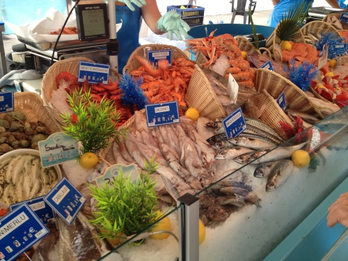 Buying Shrimp at the Market in Isle Sur La Sorgue