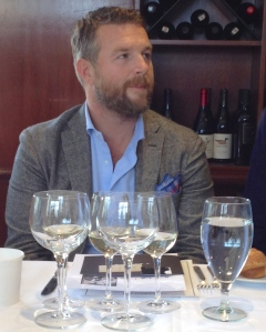 Marco Barollo speaking at the tasting