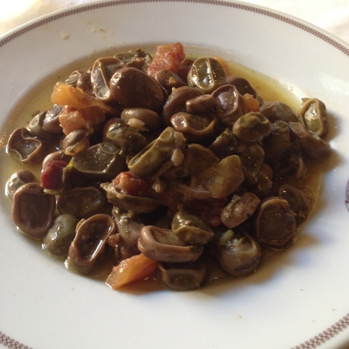 Fava Beans with Guanciale