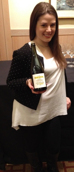 Emma Criswell with Louis Roederer