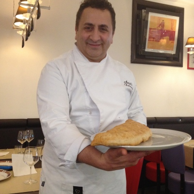 Aniello with his Pizza Fritta